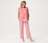 AnyBody Loungewear Cozy Knit Printed Pajama Set - A306958