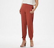Lisa Rinna Collection Petite Knit Ankle Pant - A309058
