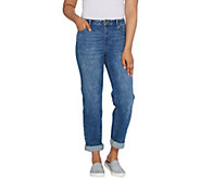 LOGO by Lori Goldstein Refined Boyfriend Jeans w/ Cloud Wash - A309158