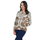 Attitudes by Renee Jacquard Bomber Jacket - A342058