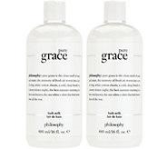 philosophy fragranced bath milk 16-oz duo - A342858