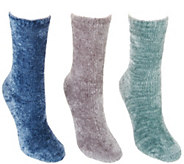 Lemon Set of 3 Pile Velvet Socks - A345758