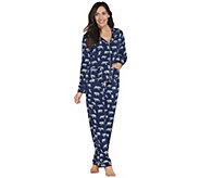 Splendid Woven Rayon Notch Collar Piped Pajama Set - A347858