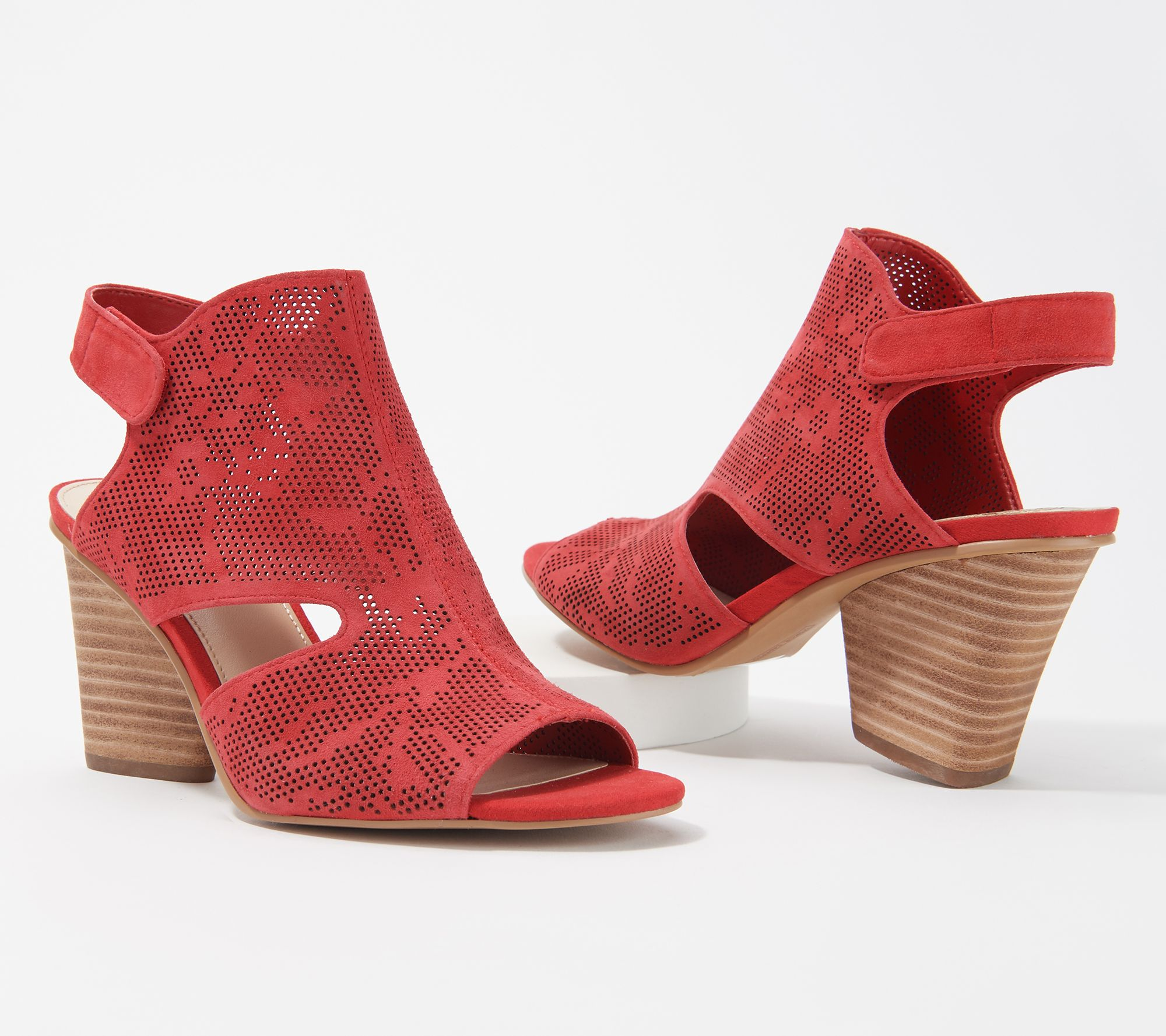 d9de6a7494e Vince Camuto Leather Detailed Heeled Sandals - Dachelle — QVC.com