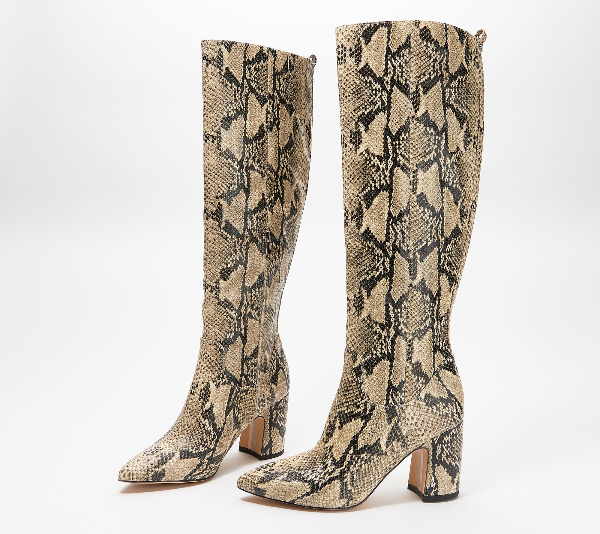 casual shoes retail prices differently Sam Edelman Snake-Print Tall-Shaft Boots - Hai - Page 1 — QVC.com