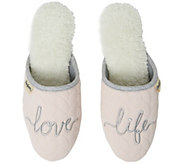 Dearfoams Womens Cable-Knit Novelty Scuff Slippers - A424158