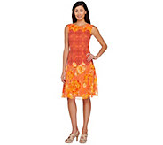 Isaac Mizrahi Live! Mixed Print Sleeveless Dress - A266059