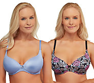 As Is Barley Breezies S/2 Sweetheart Neckline Comfort Bras - A267959