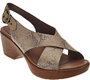 Dansko Leather Criss Cross Strap Sandals - Jacinda - A274359