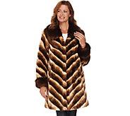 Dennis Basso Platinum Collection Faux Chinchilla Fur Coat - A284859