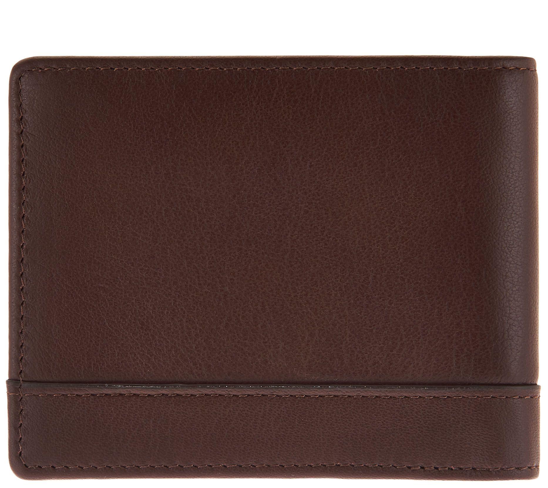 2f3db32f5 LODIS Men's Italian Leather RFID Bi-fold Wallet - Page 1 — QVC.com