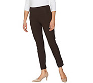Women with Control Regular Tummy Control Ankle Pants w/ Button Detail - A288159