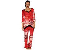 Ellen Tracy Jersey Knit Pajama Set - A296459