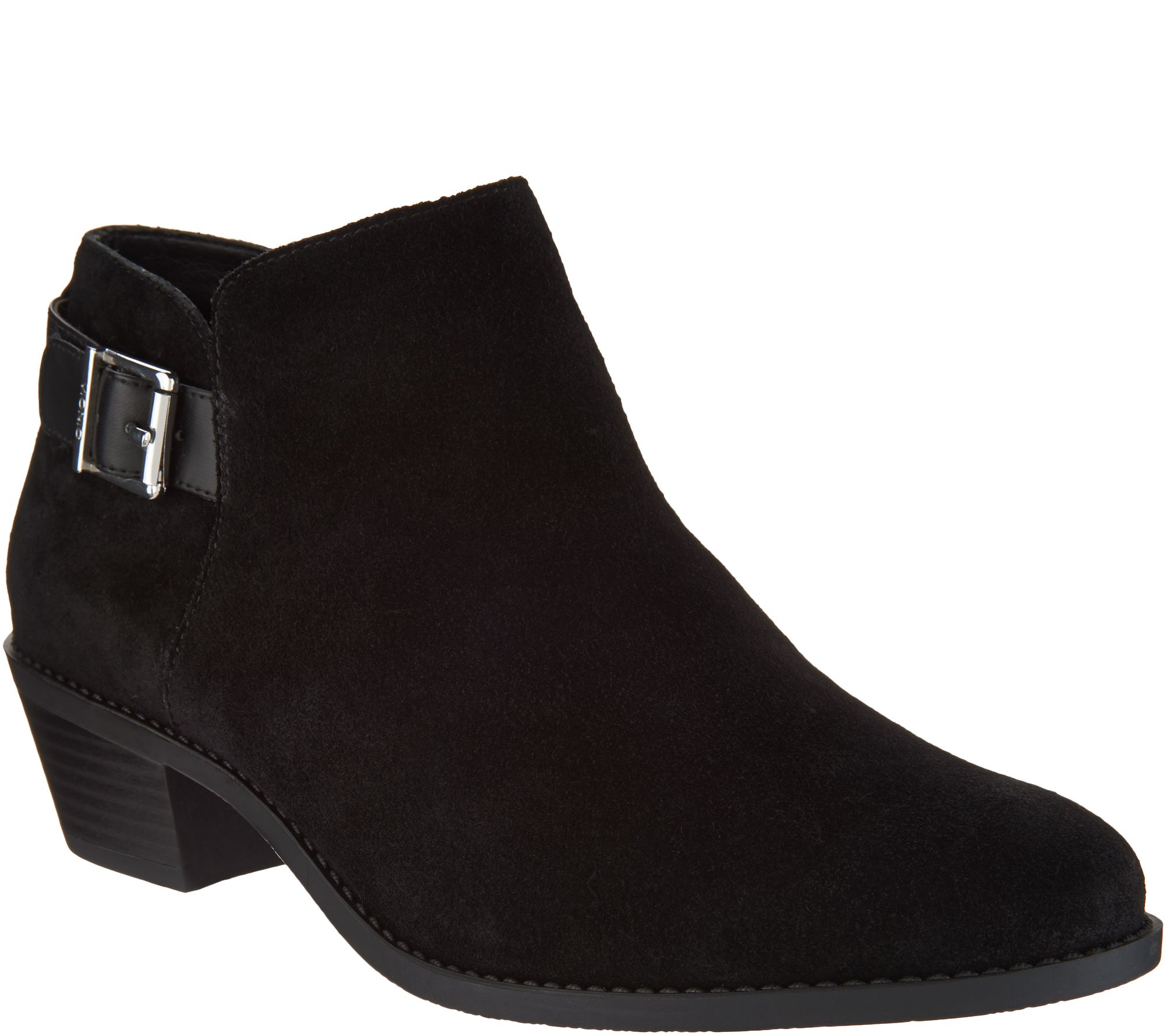 2cee025aeb1 Vionic Ankle Boots with Buckle - Millie — QVC.com
