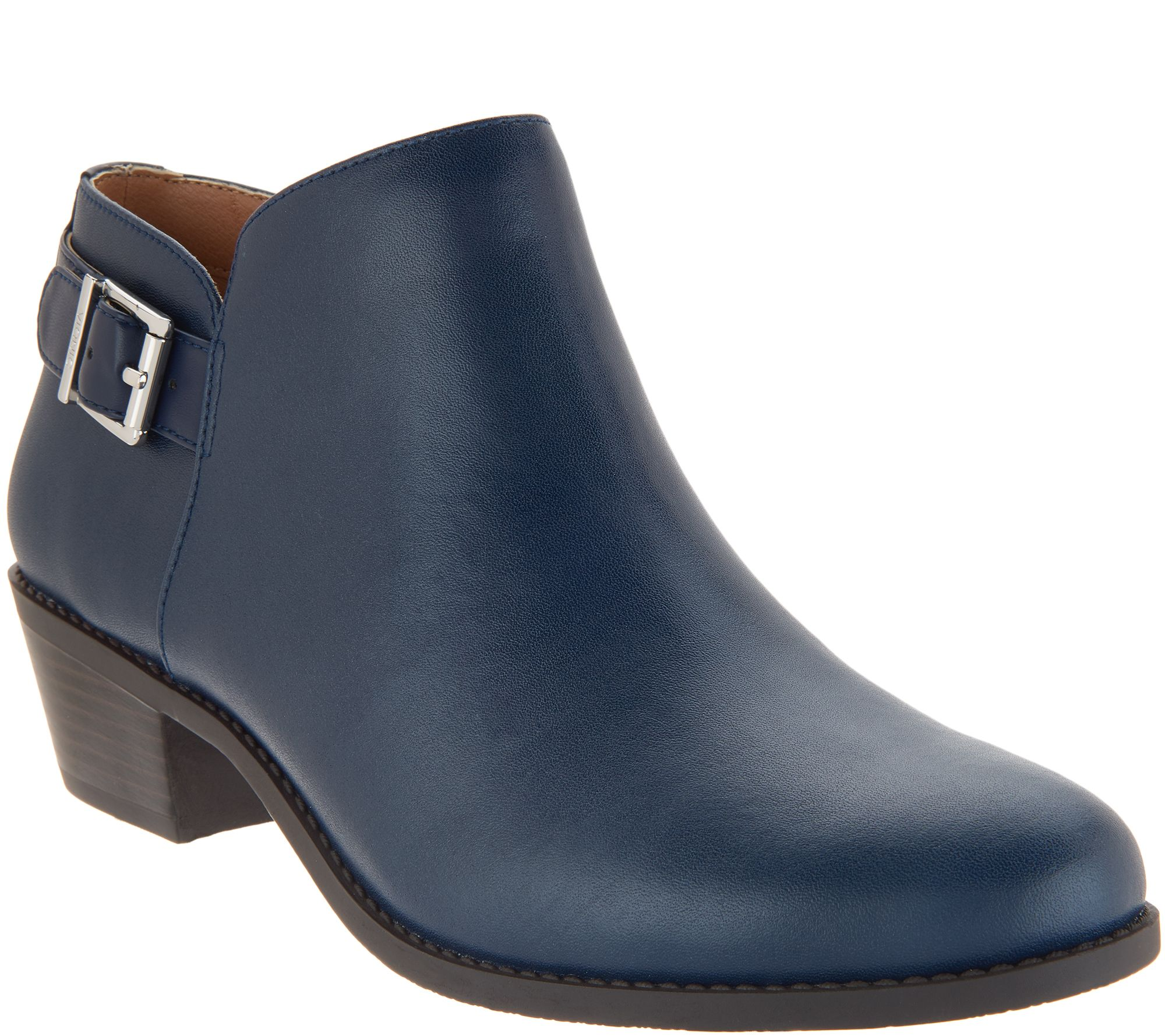 6aa58a9f66ae Vionic Ankle Boots with Buckle - Millie - Page 1 — QVC.com