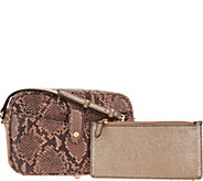 G.I.L.I. Leather Crossbody Bag with Removable Pouch - A297759