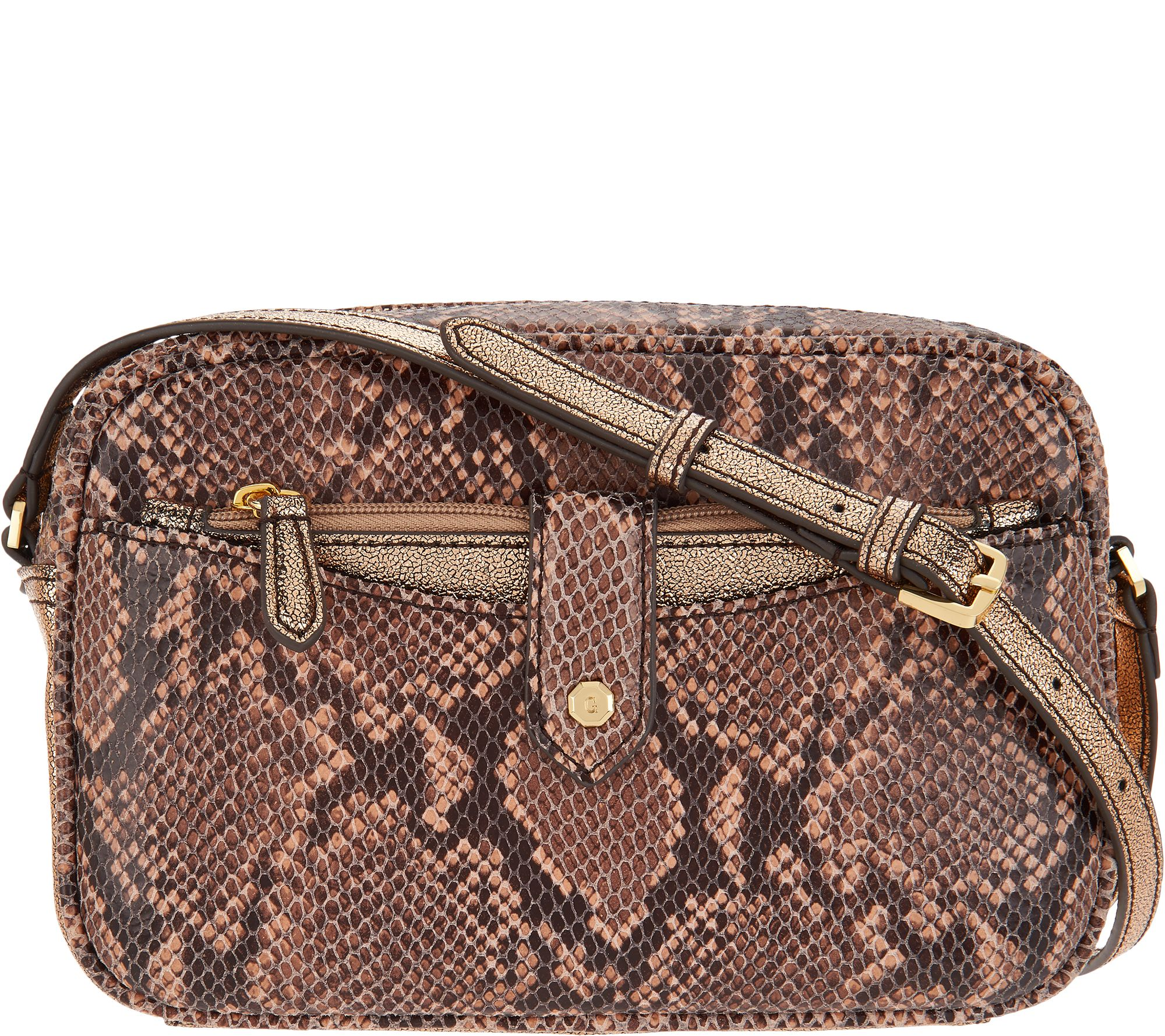 G.I.L.I. Leather Crossbody Bag with Removable Pouch - Page 1 — QVC.com 5314e3dcfd266