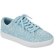Isaac Mizrahi Live! Crochet Lace-Up Sneakers - A303059