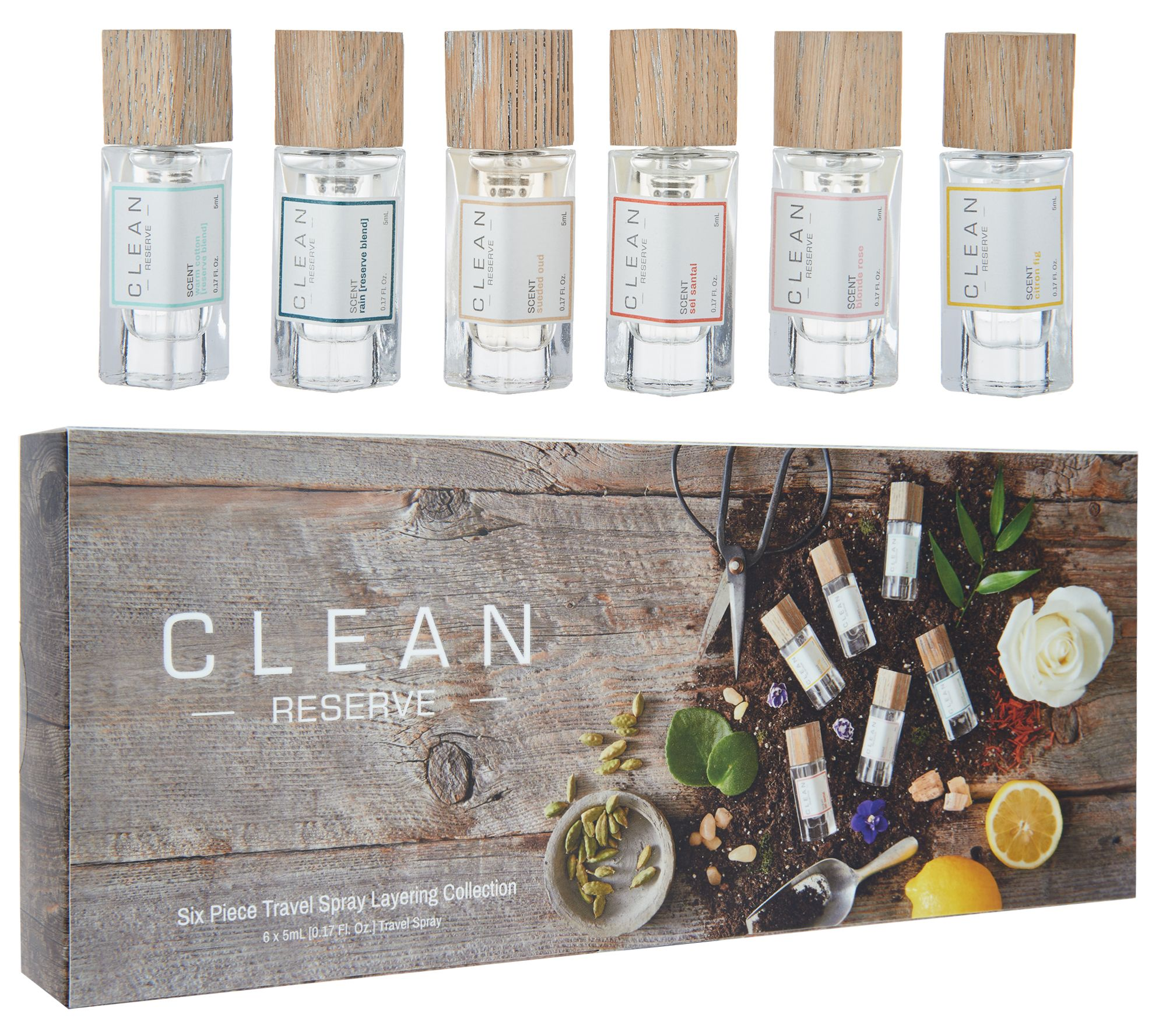 Clean Reserve 6pc Fragrance Layering Collection Page 1 Black Oud 2 Pcs