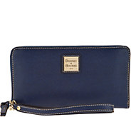 As Is Dooney & Bourke Saffiano Large Zip Around Wallet - A307359