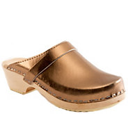 Cape Clogs Leather Clogs - Bronze - A340659