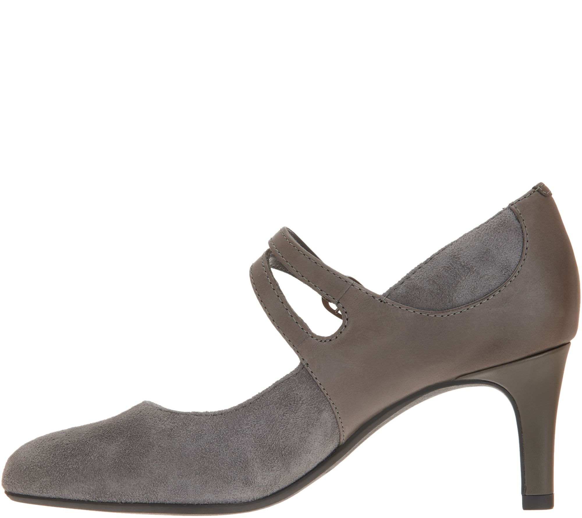 8a288819e7b Clarks Suede Mary Jane Pumps - Dancer Reese — QVC.com