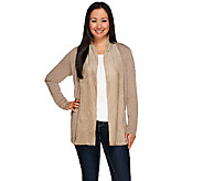 Kelly by Clinton Kelly Cardigan with Faux Suede Shawl Collar - A271960