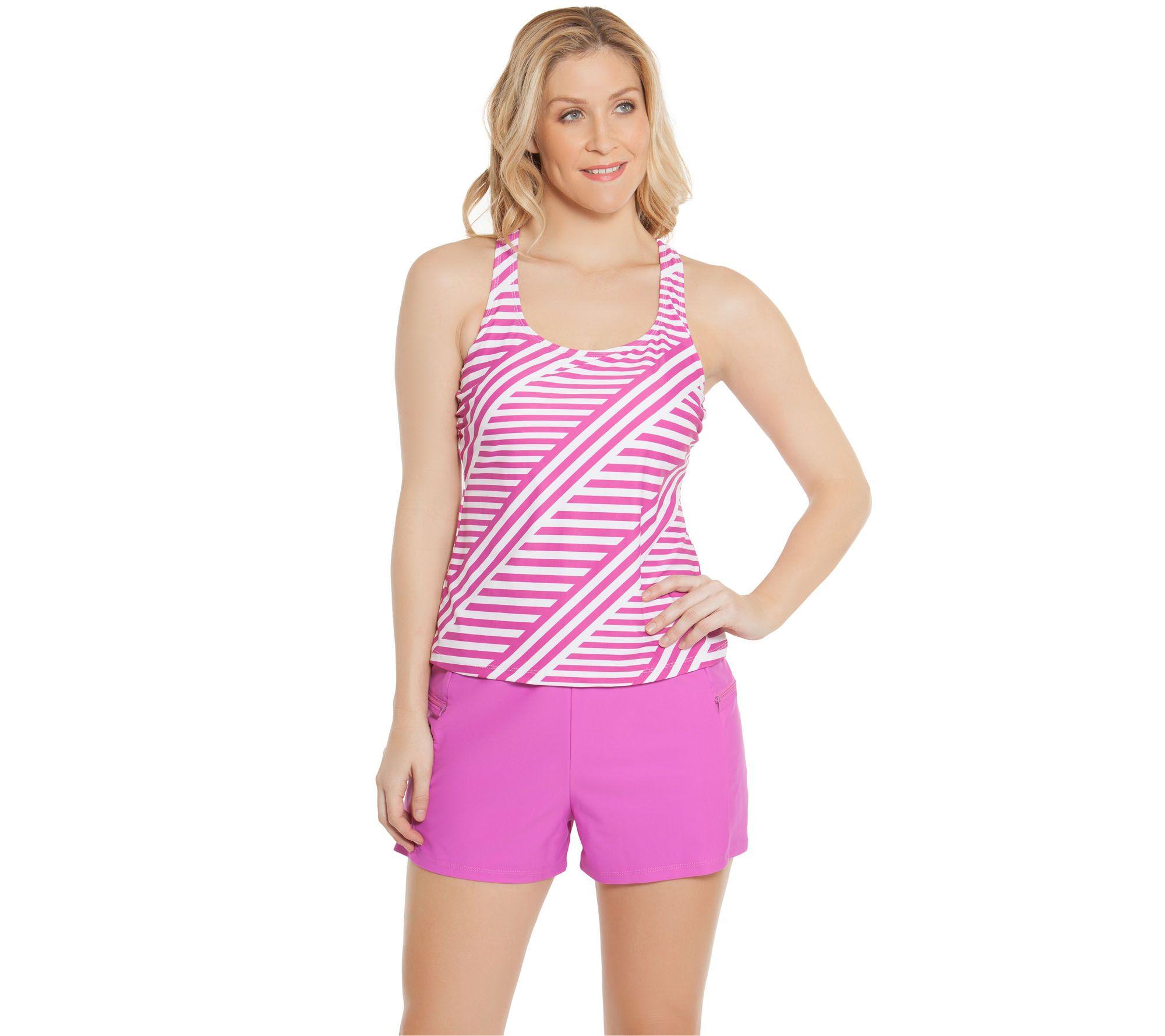 0baeb5c40a Ocean Dream Signature Stripe Play Tankini Swimsuit - Page 1 — QVC.com