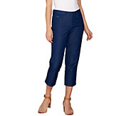 H by Halston Studio Stretch Five Pocket Crop Pants - A275460