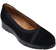 As Is Clarks Artisan Nubuck Leather Slip-On Shoes - Daelyn Hill - A275560