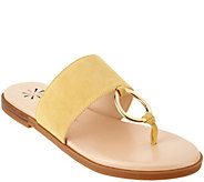 Isaac Mizrahi Live! Suede Sandals with Hardware - A277660
