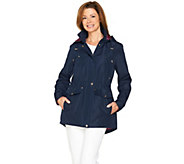 C. Wonder Water Resistant Zip Front Anorak with Removable Hood - A286860