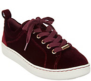 Earth Velvet Lace-up Sneakers - Zag - A296860