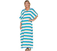 Joan Rivers Petite Length Bold Striped Knit Caftan - A304760