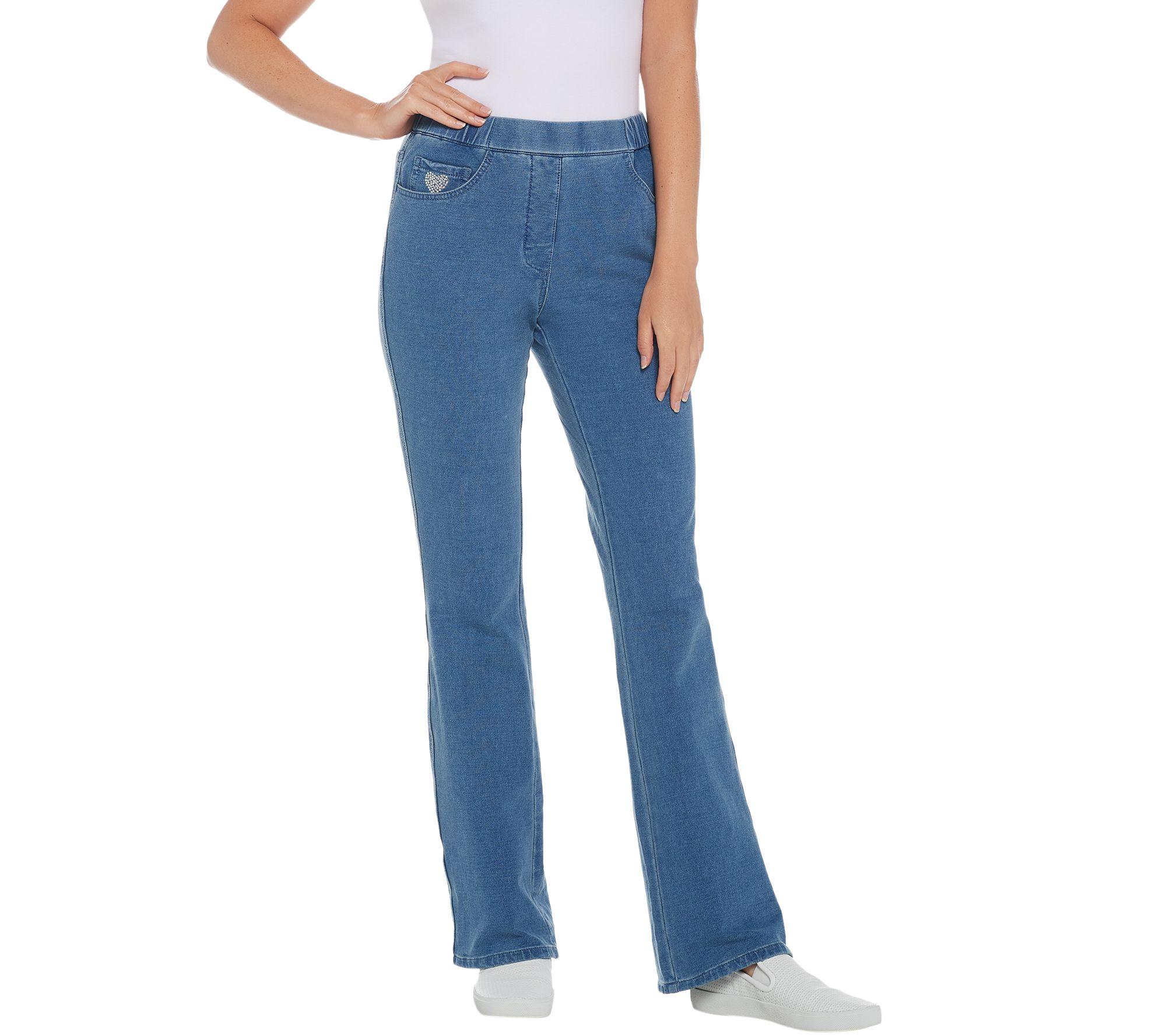 2723c94110 Quacker Factory Short DreamJeannes Pull-On Boot Cut Pants - Page 1 — QVC.com