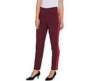 Isaac Mizrahi Live! Regular 24/7 Stretch Tuxedo Stripe Ankle Pants - A343260