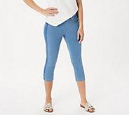 Belle by Kim Gravel Flexibelle Tuxedo Stripe Pull-On Jeans - A350460