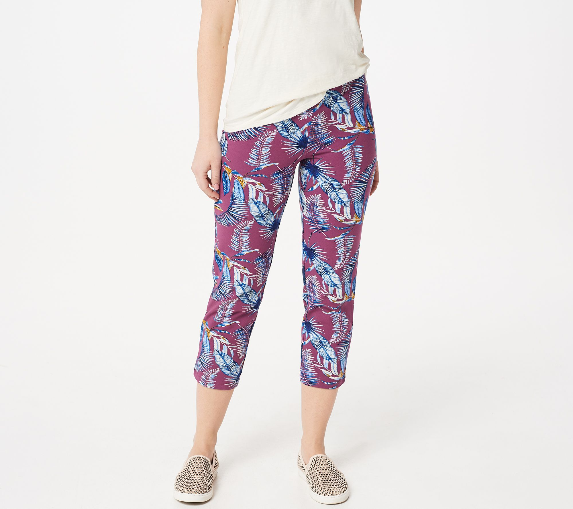 03733b6b96bb2 Women with Control Regular Pull-On Printed Crop Pants - Page 1 — QVC.com