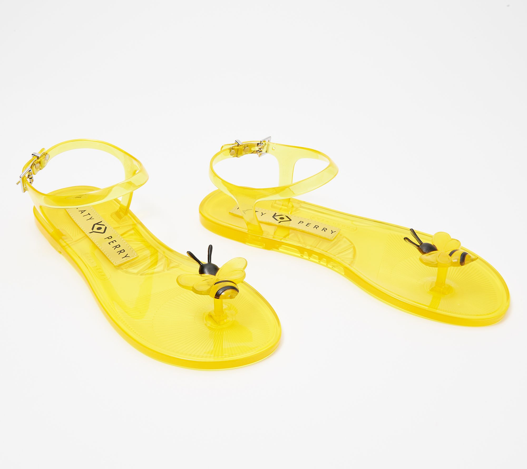 Katy Perry Novelty Yellow Lemon Scented Geli Women's Size 9 Jelly Sandal