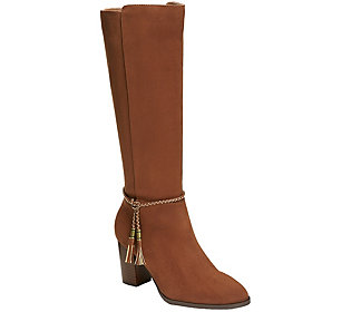 A2 Knee High Heeled Boots - Stonewall