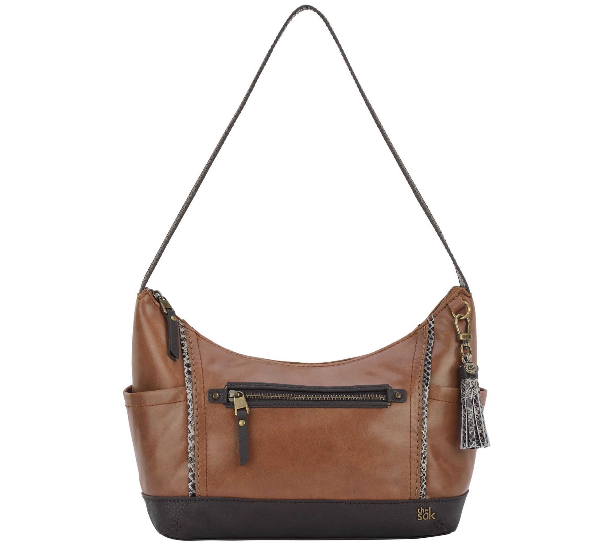 647dc80e77 The Sak Kendra II Leather Hobo Handbag — QVC.com