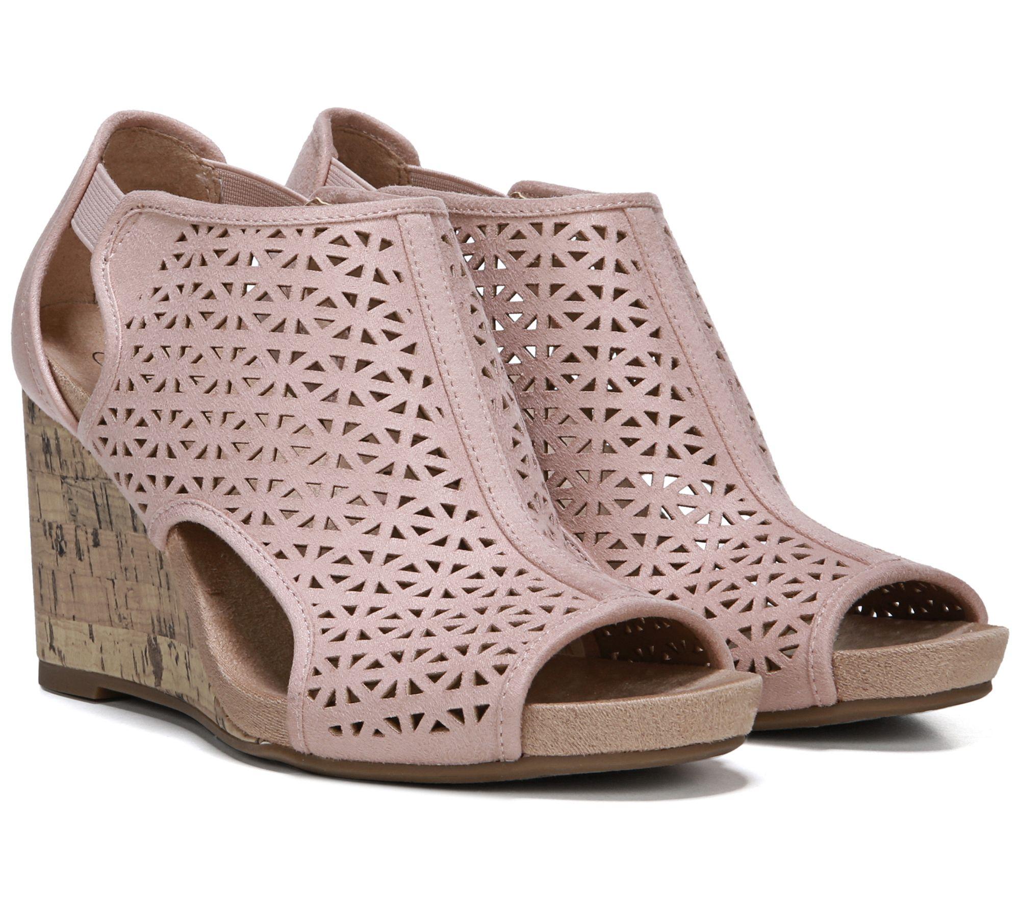 5be6a700043 LifeStride Peep Toe Wedge Sandals - Hinx 2 — QVC.com