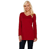 Isaac Mizrahi Live! Essentials Rounded V-Neck Knit Tunic - A266661