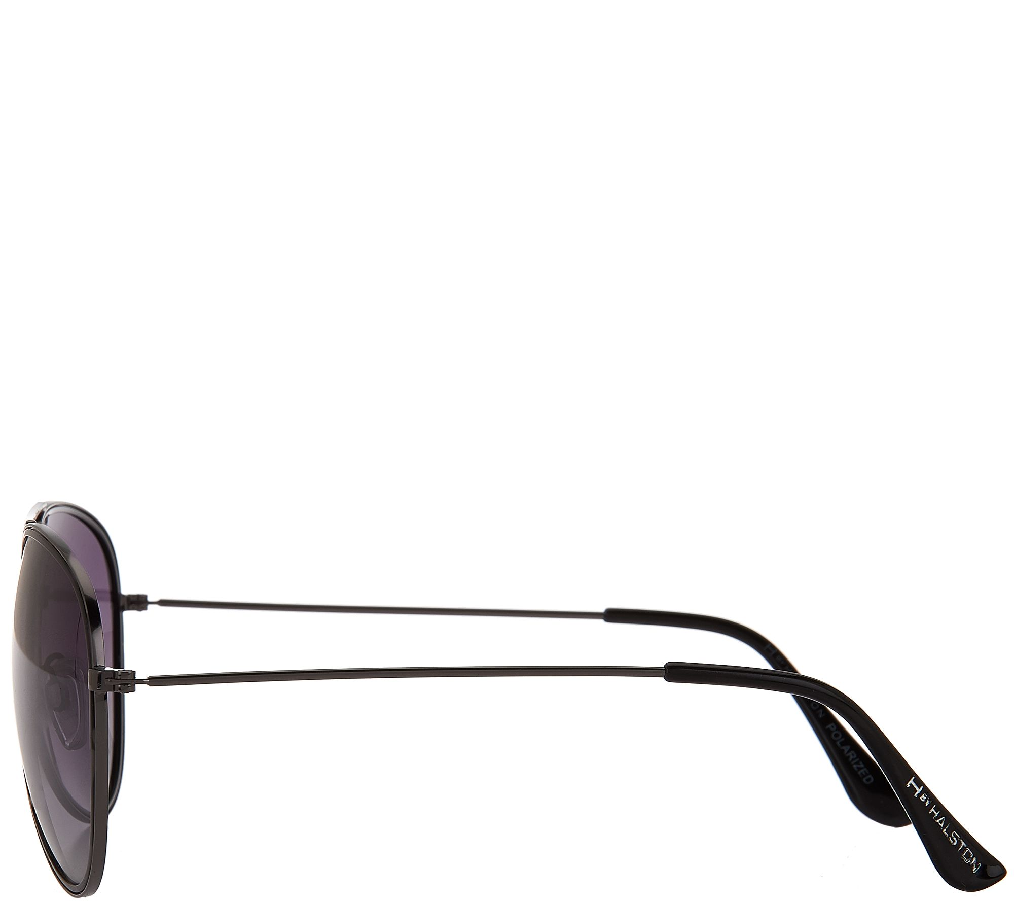 4fba5bfd19d H by Halston Polarized Aviator Sunglasses w  Two Tone Frame - Page 1 —  QVC.com
