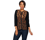 Bob Mackies Animal Print Zip-Up Fleece Vest - A279161