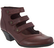Earth Leather Multi-strap Booties - Serano - A282861