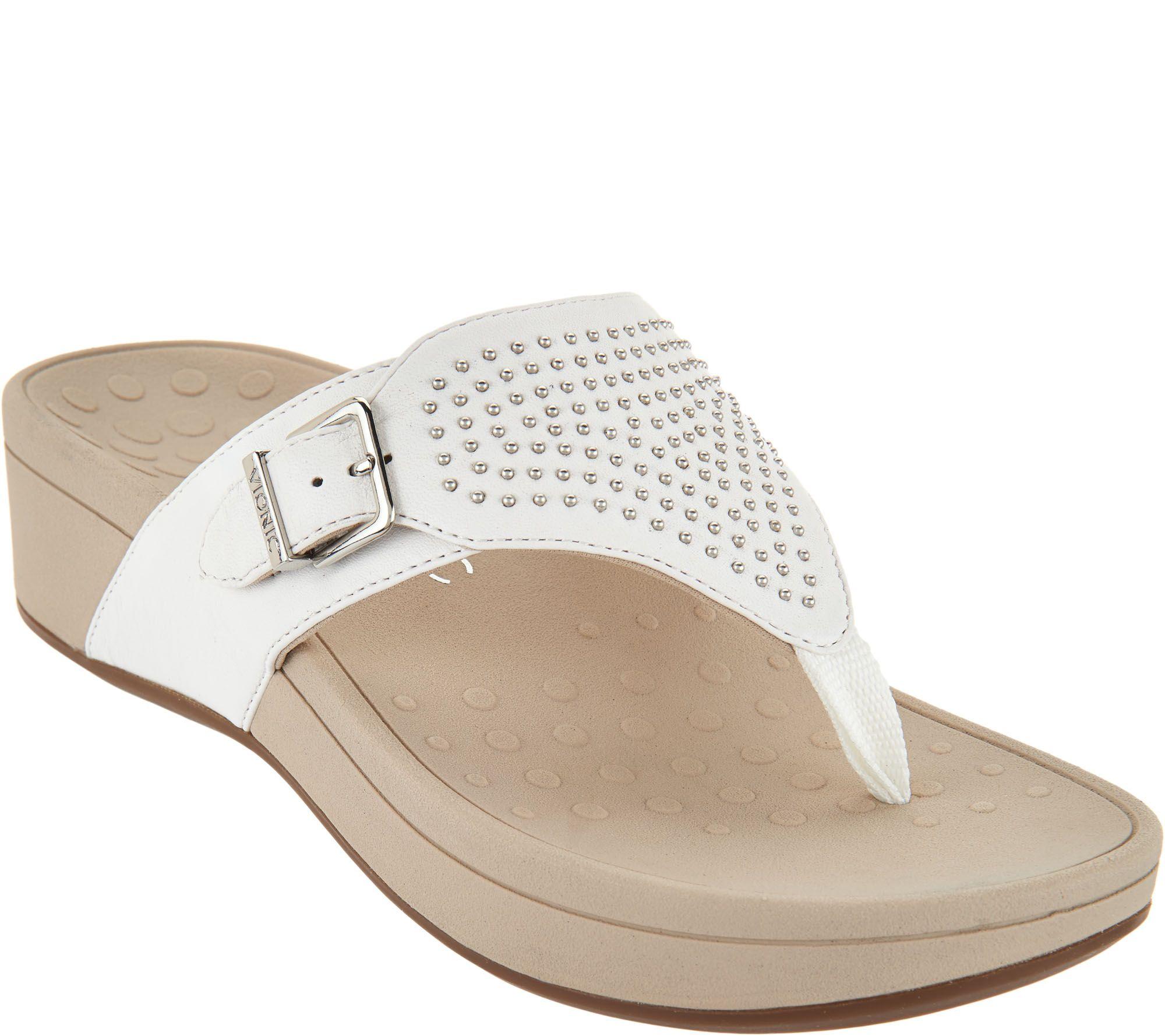 ba45c38c3cd Vionic Platform Sandals w Studs - Capitola - Page 1 — QVC.com