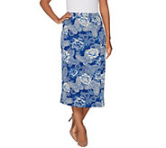 Linea by Louis DellOlio Faux Wrap Printed Midi Skirt - A302561