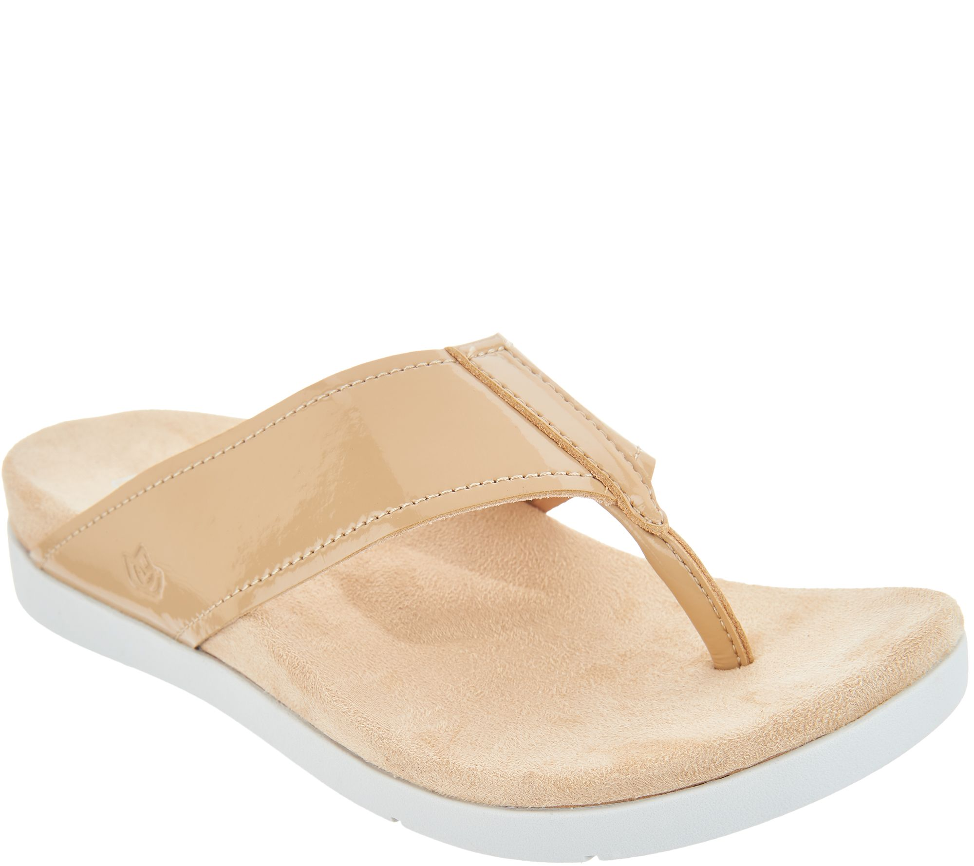 e2bbb0d61bfe0 Spenco Orthotic Platform Thong Sandals - Hampton - Page 1 — QVC.com