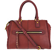 As Is orYANY Lamb Leather Satchel Handbag - Donna - A342861